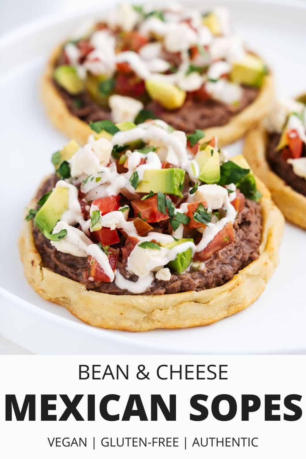 Bean and Cheese Mexican Sopes