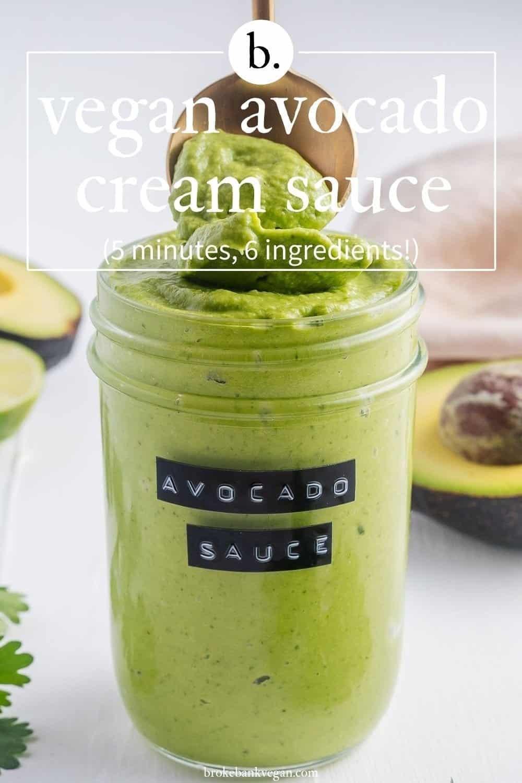 Vegan Avocado Cream Sauce