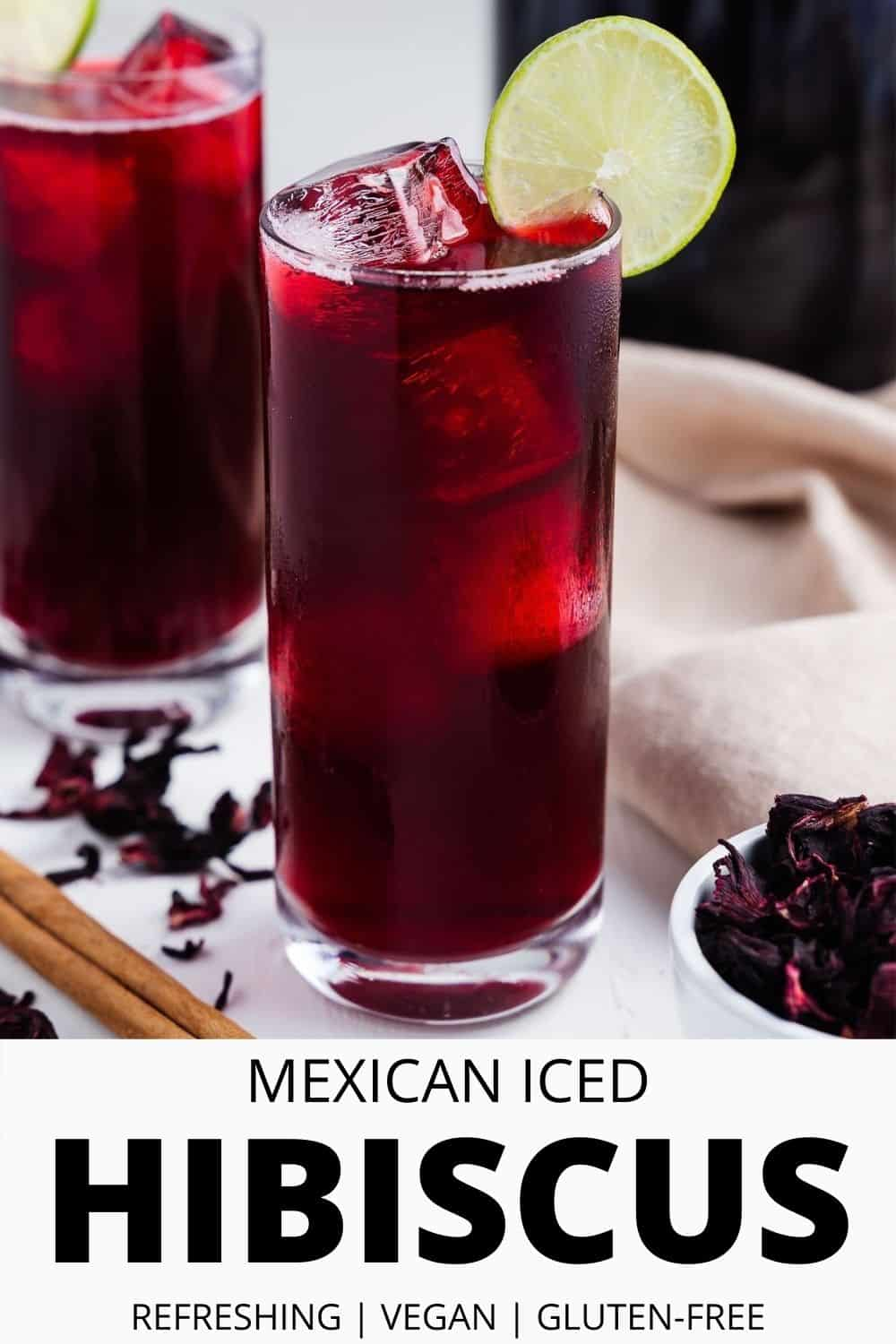 Mexican Iced Hibiscus Tea
