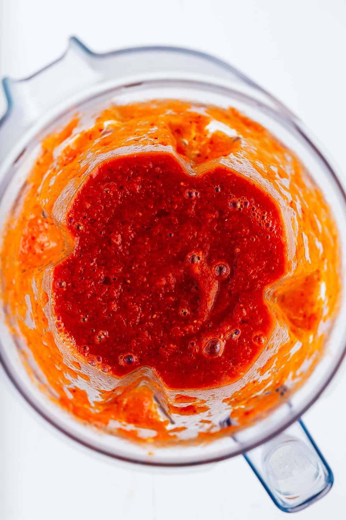 Salsa Roja in a Blender