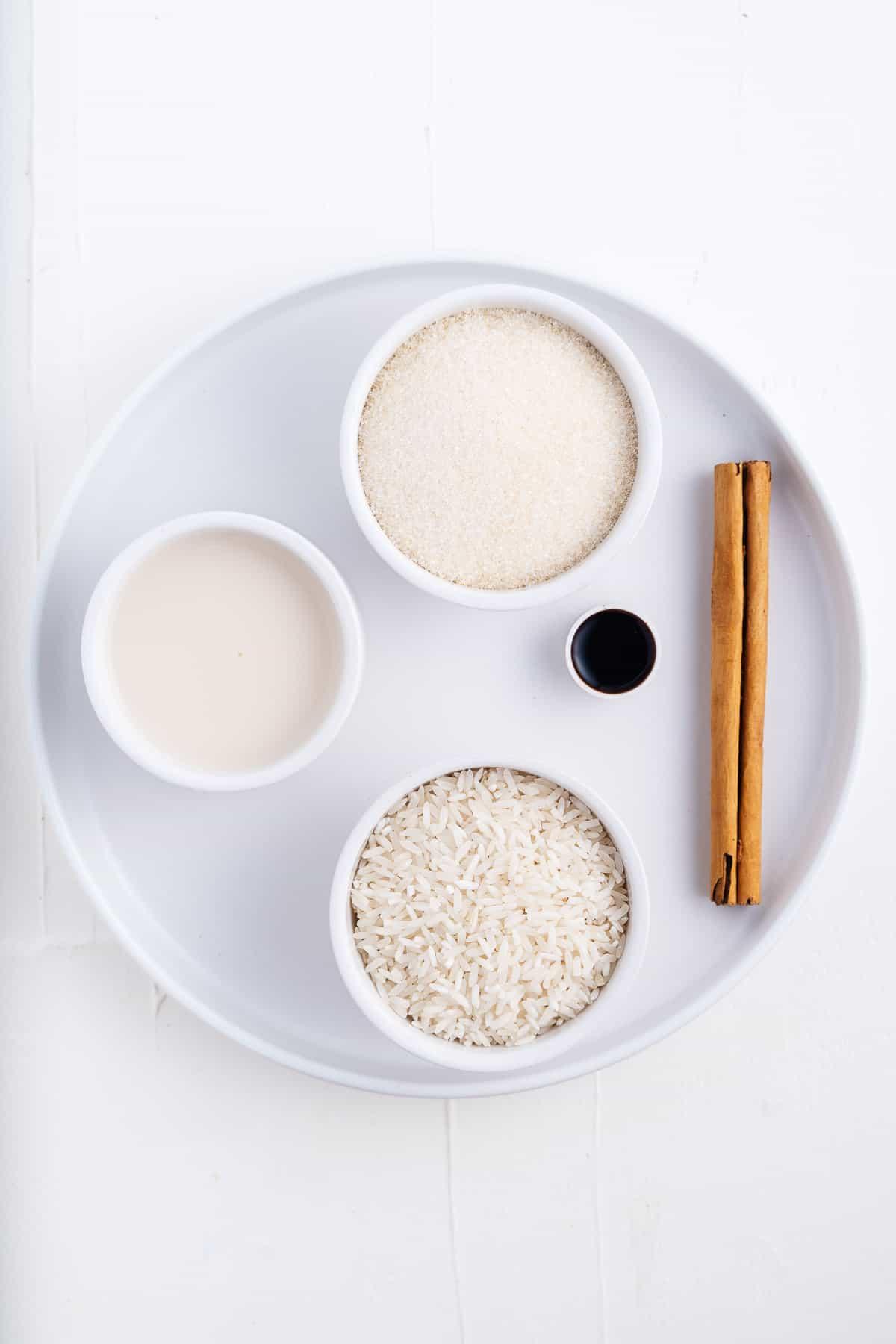 Almond Milk, Cane Sugar, Cinnamon Stick, Vanilla, and Rice