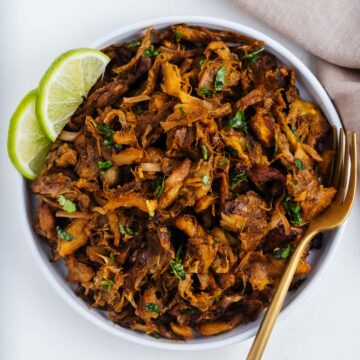 Jackfruit Carnitas on a Plate