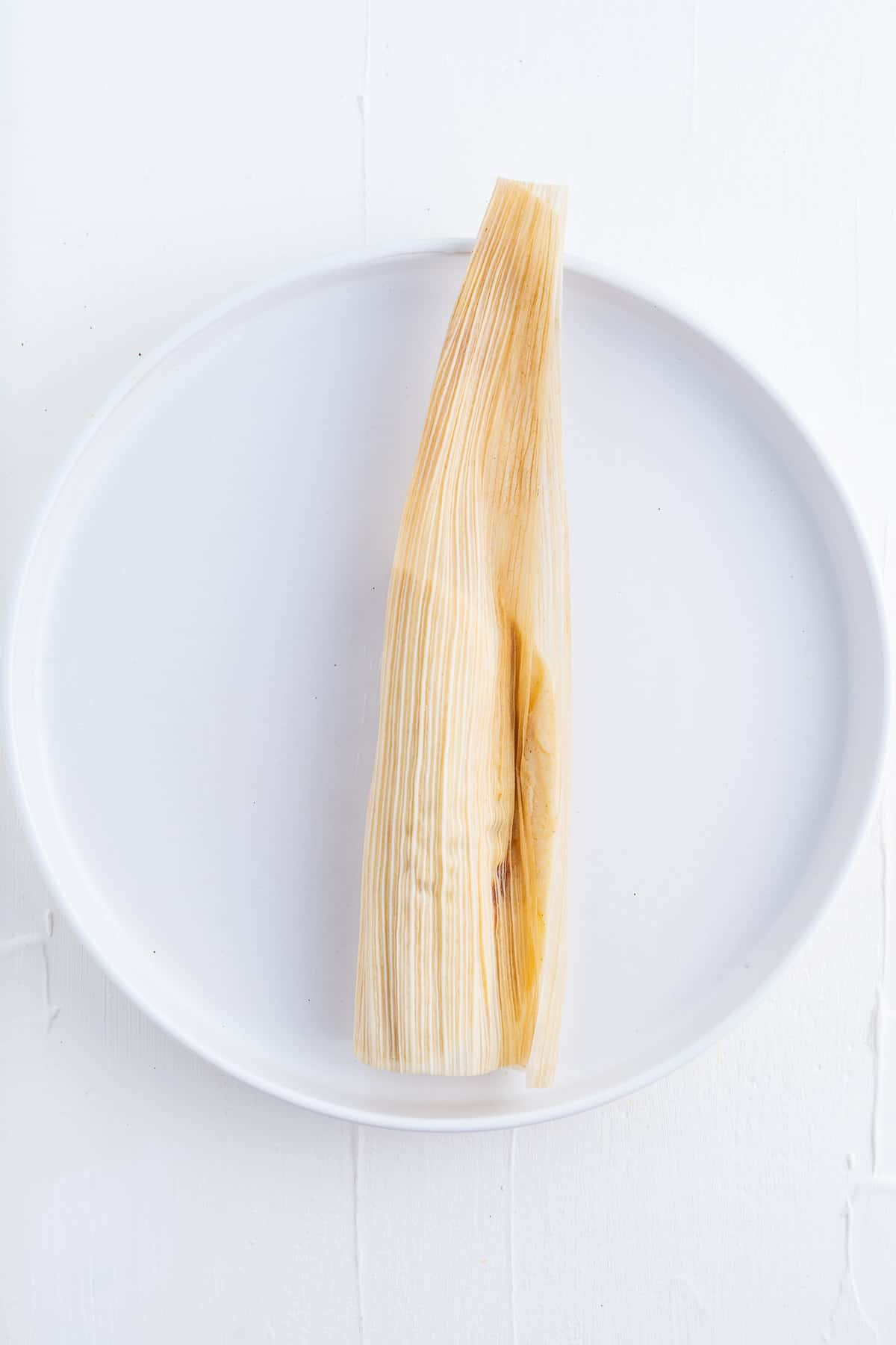 Corn Husk Wrapped Around Dough