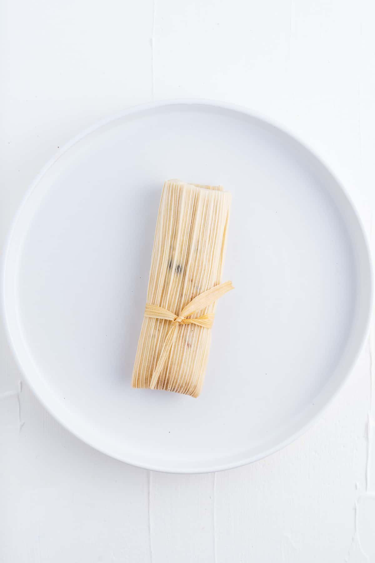 Tamal on a Plate
