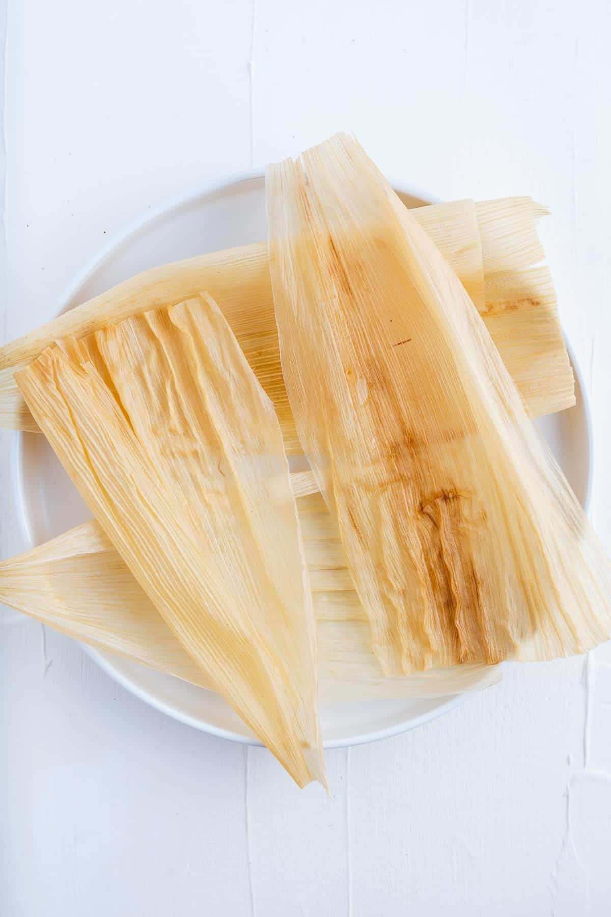 Corn Husks on a Plate