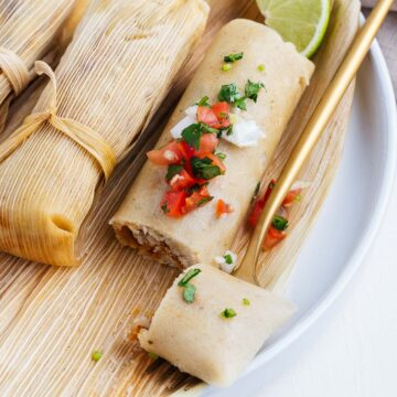 Vegan Tamales on a Fork