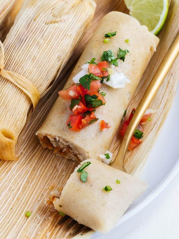Vegan Tamales on a Fork