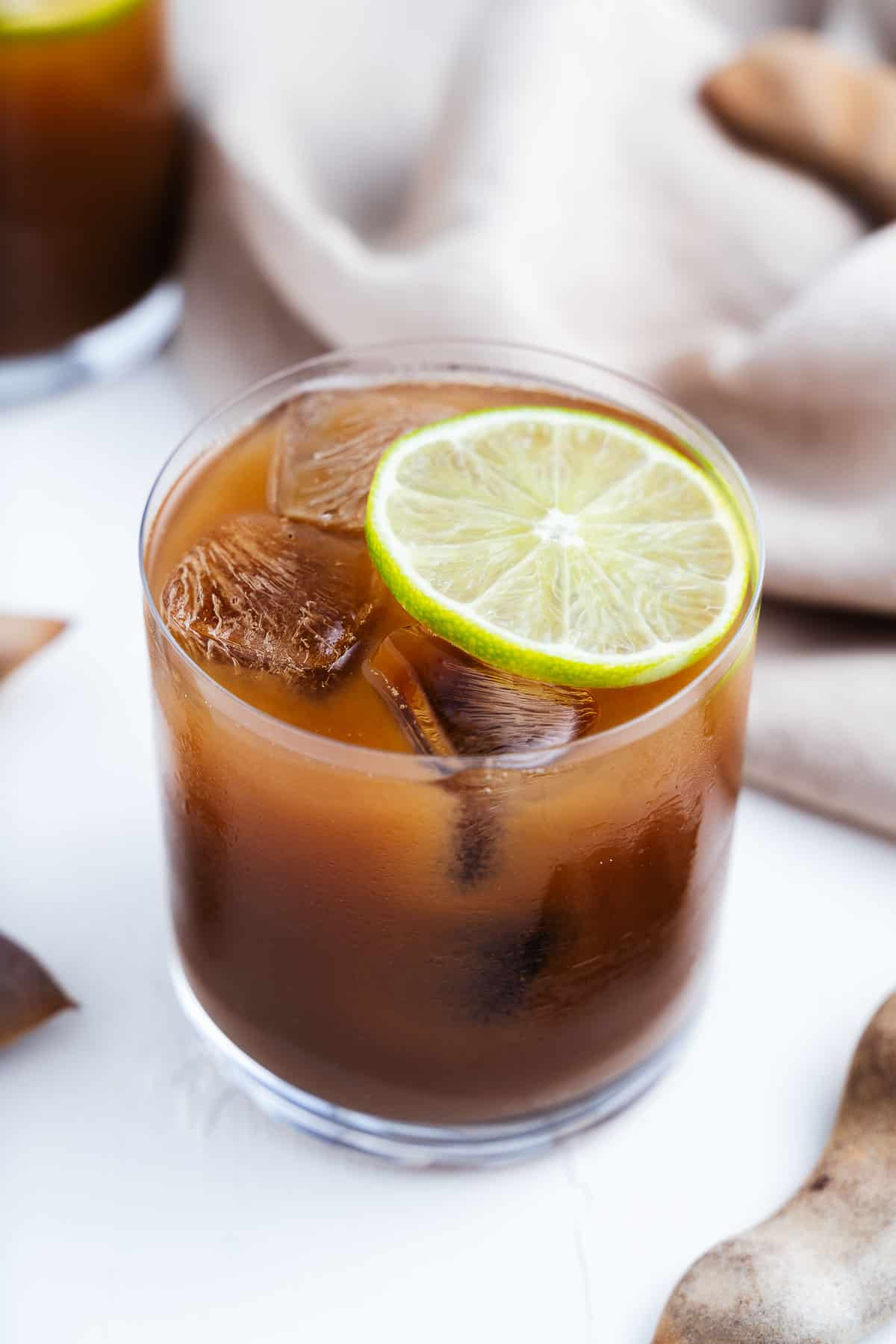 Agua de Tamarindo With Lime Wheel