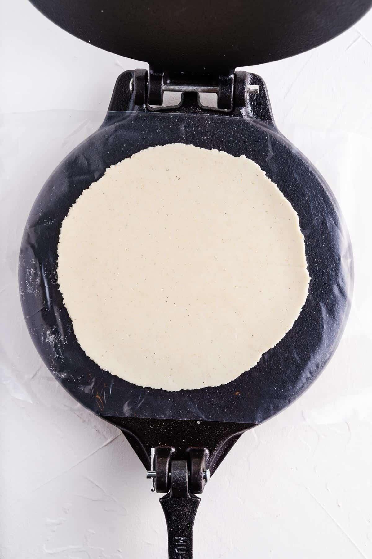 Tortilla in a Press