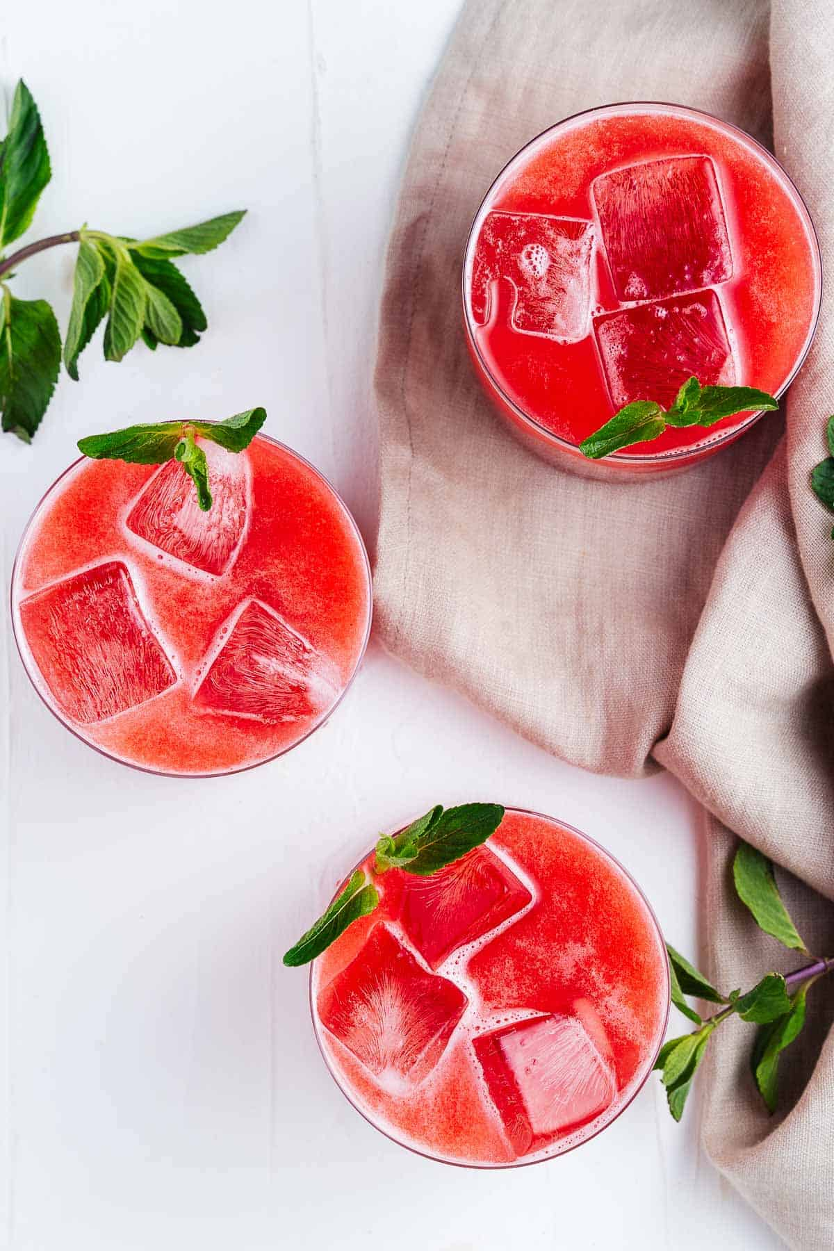 Top Down of Watermelon Drinks