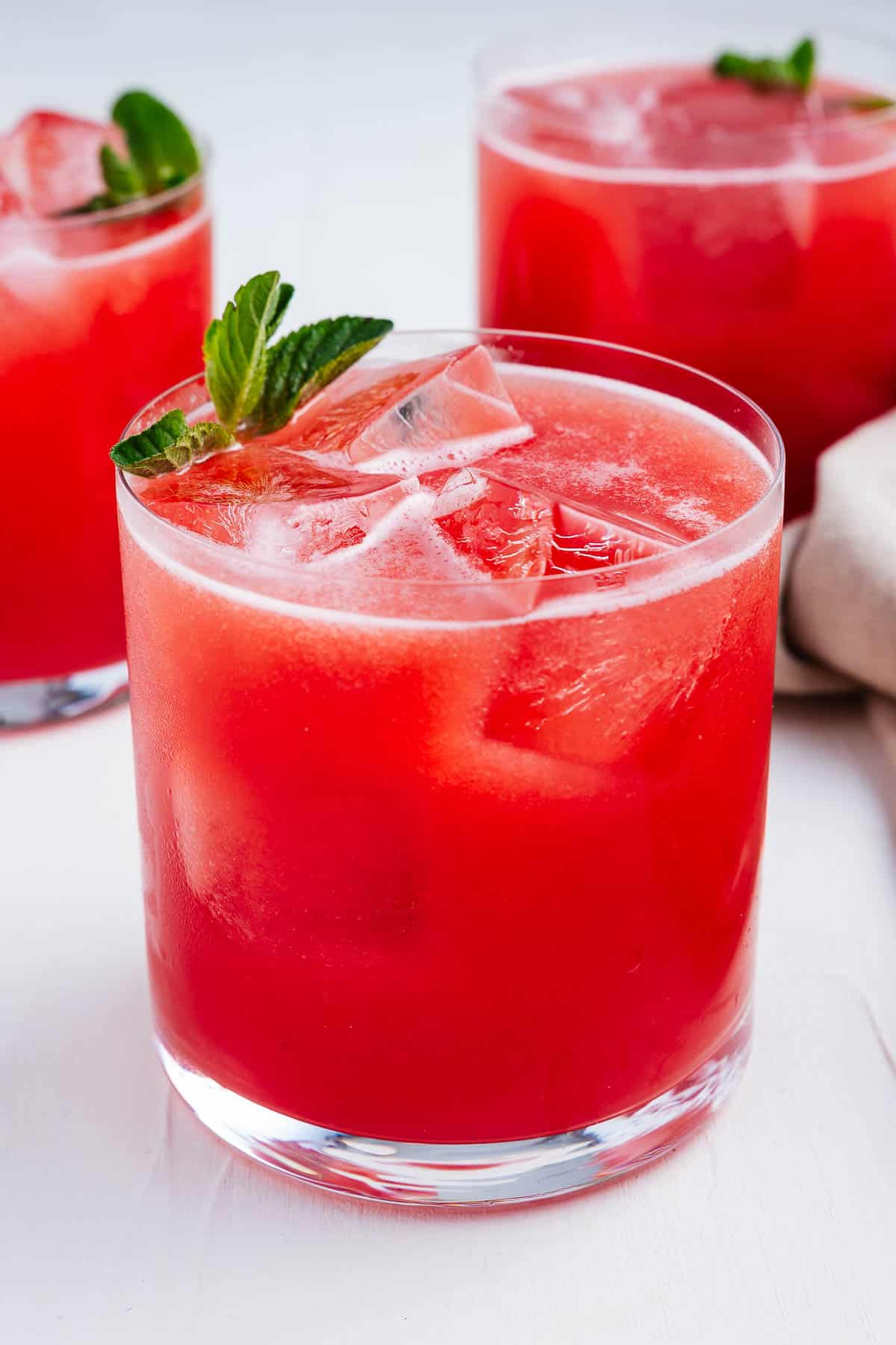 Agua de Sandia in Glasses