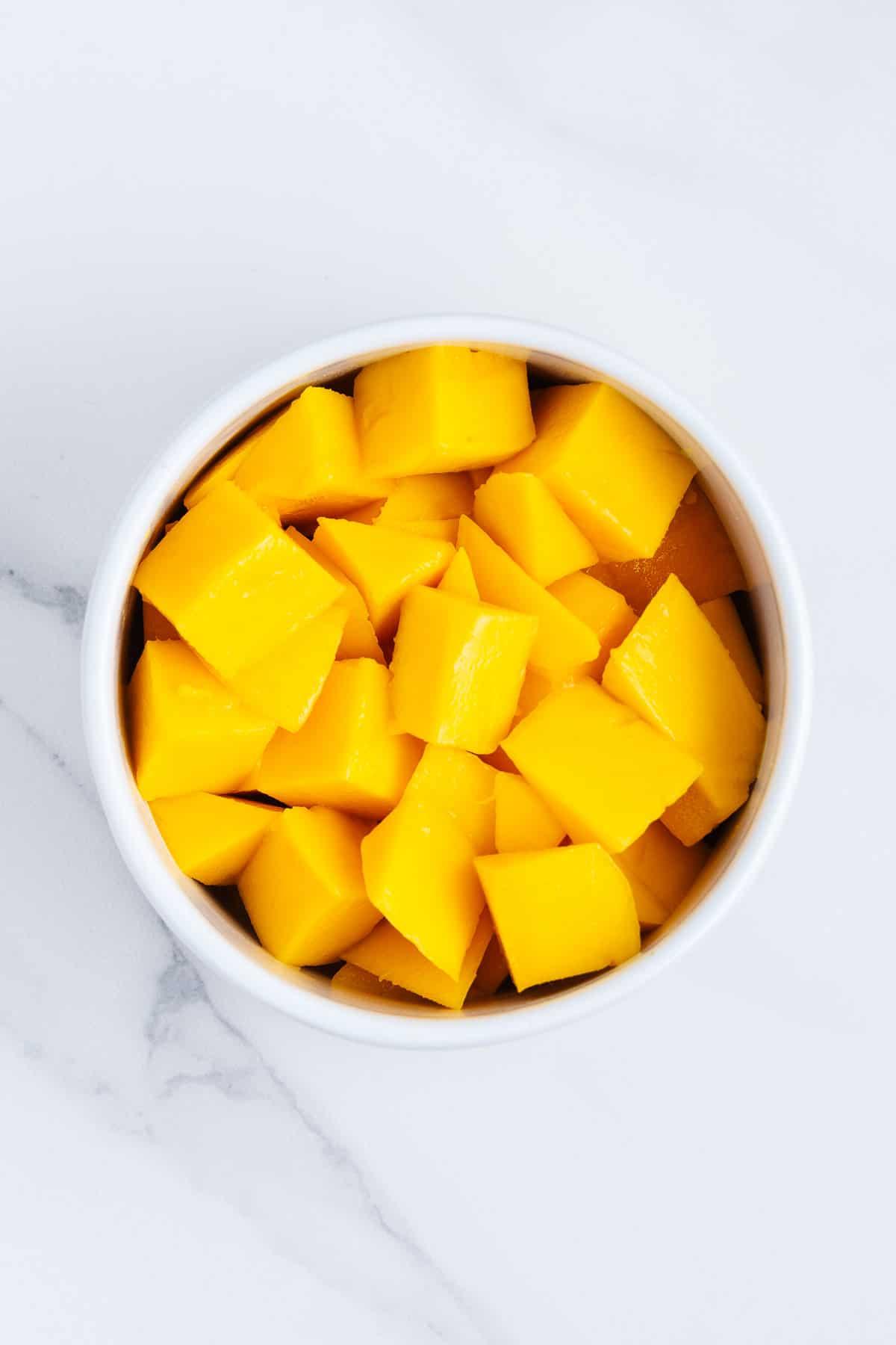 Bowl of Mango Chunks