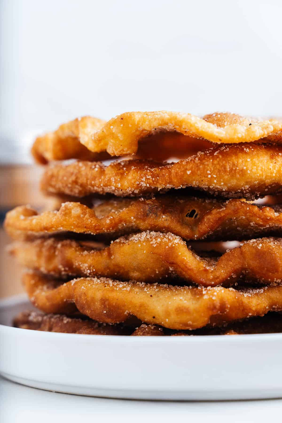 Bunuelos Stacked on a Plate