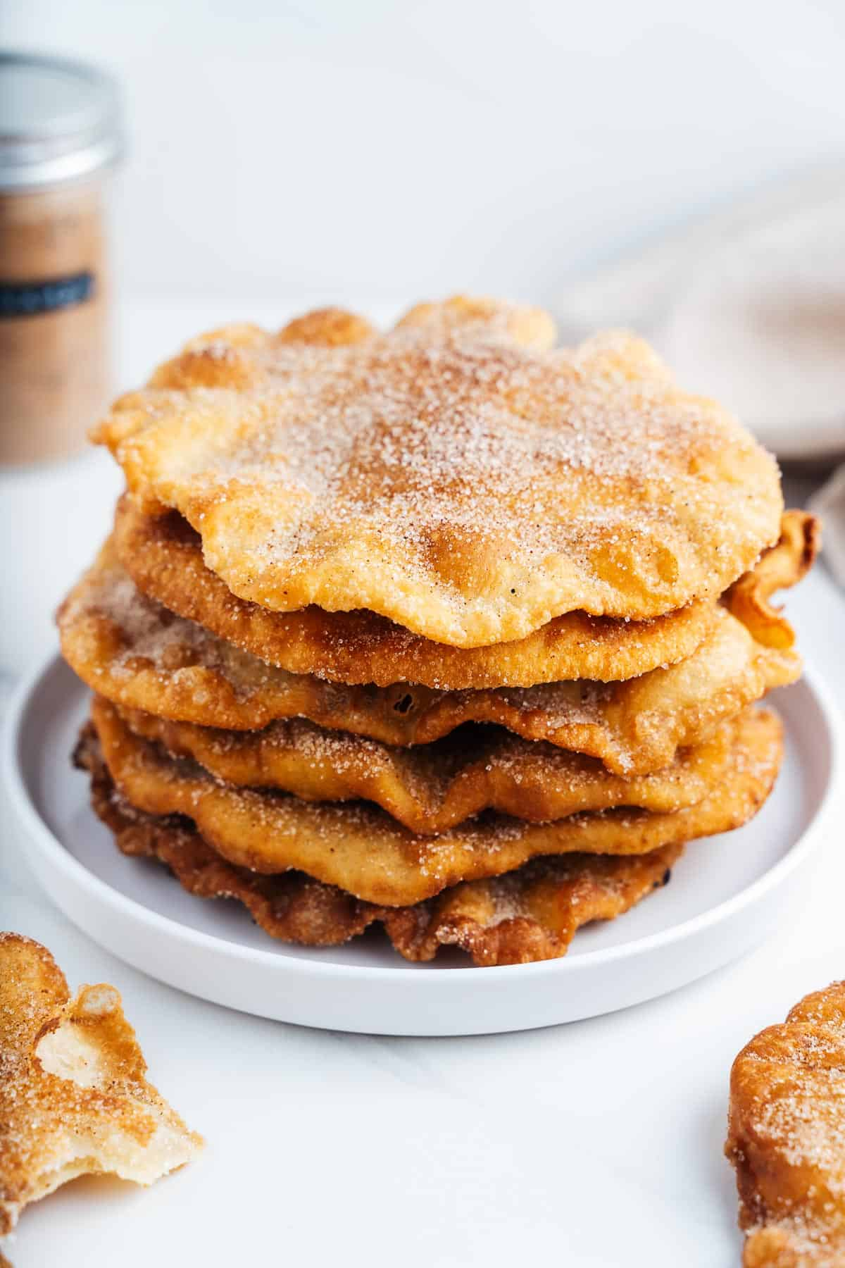 Stack of Mexican Buñuelos on a Plate