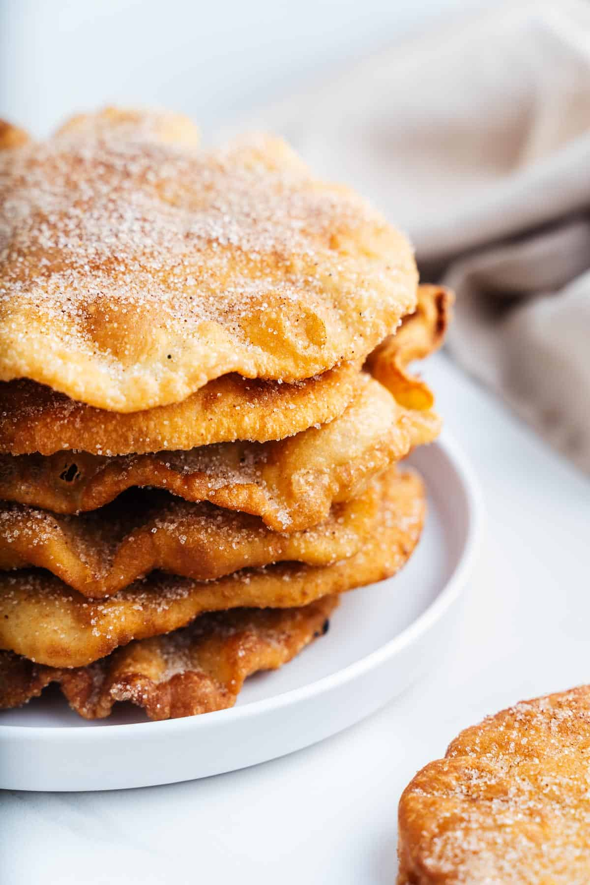 Stack of Buñuelos on a Plate
