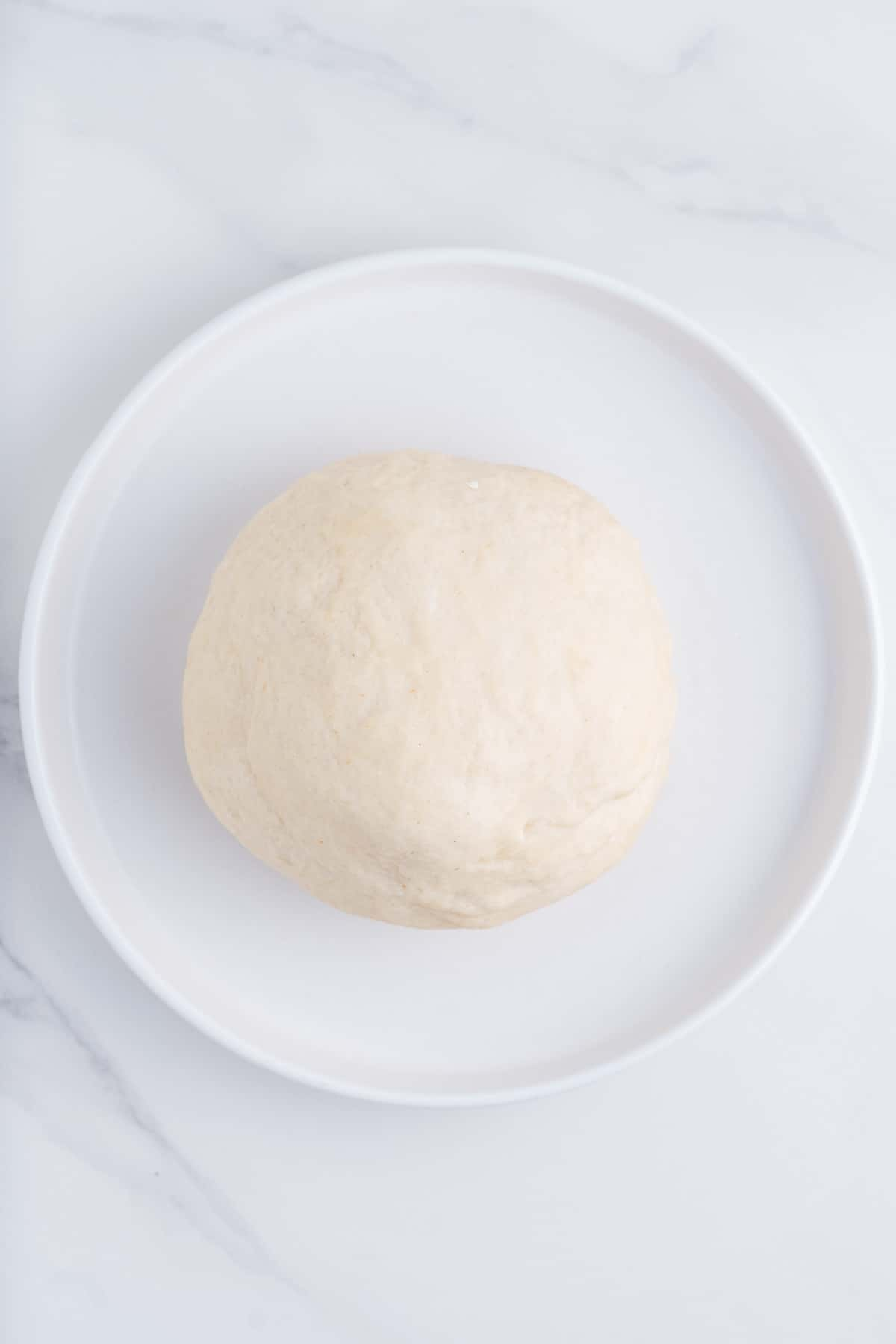 Ball of Dough on a Plate