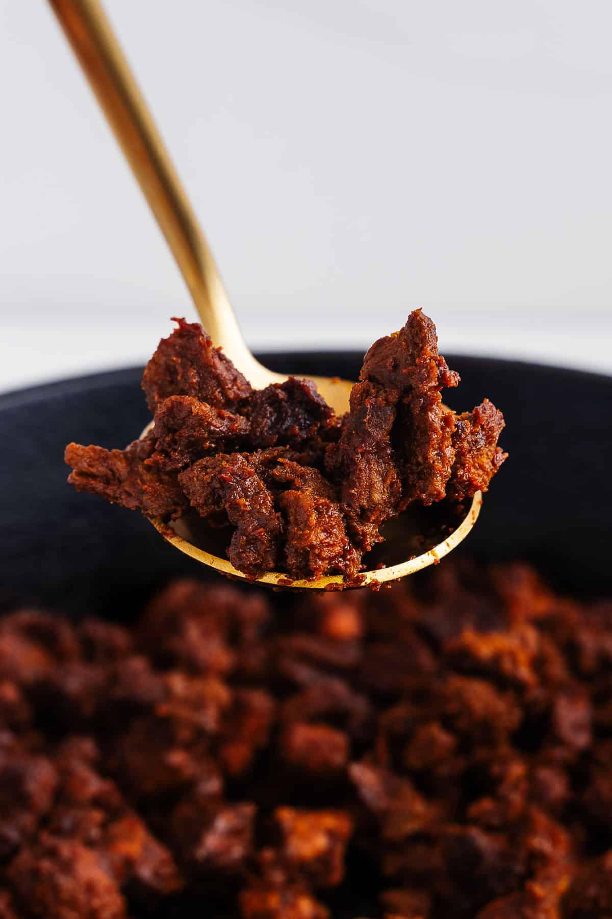 Vegan Chorizo on a Spoon
