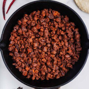 Vegan Chorizo in a Skillet