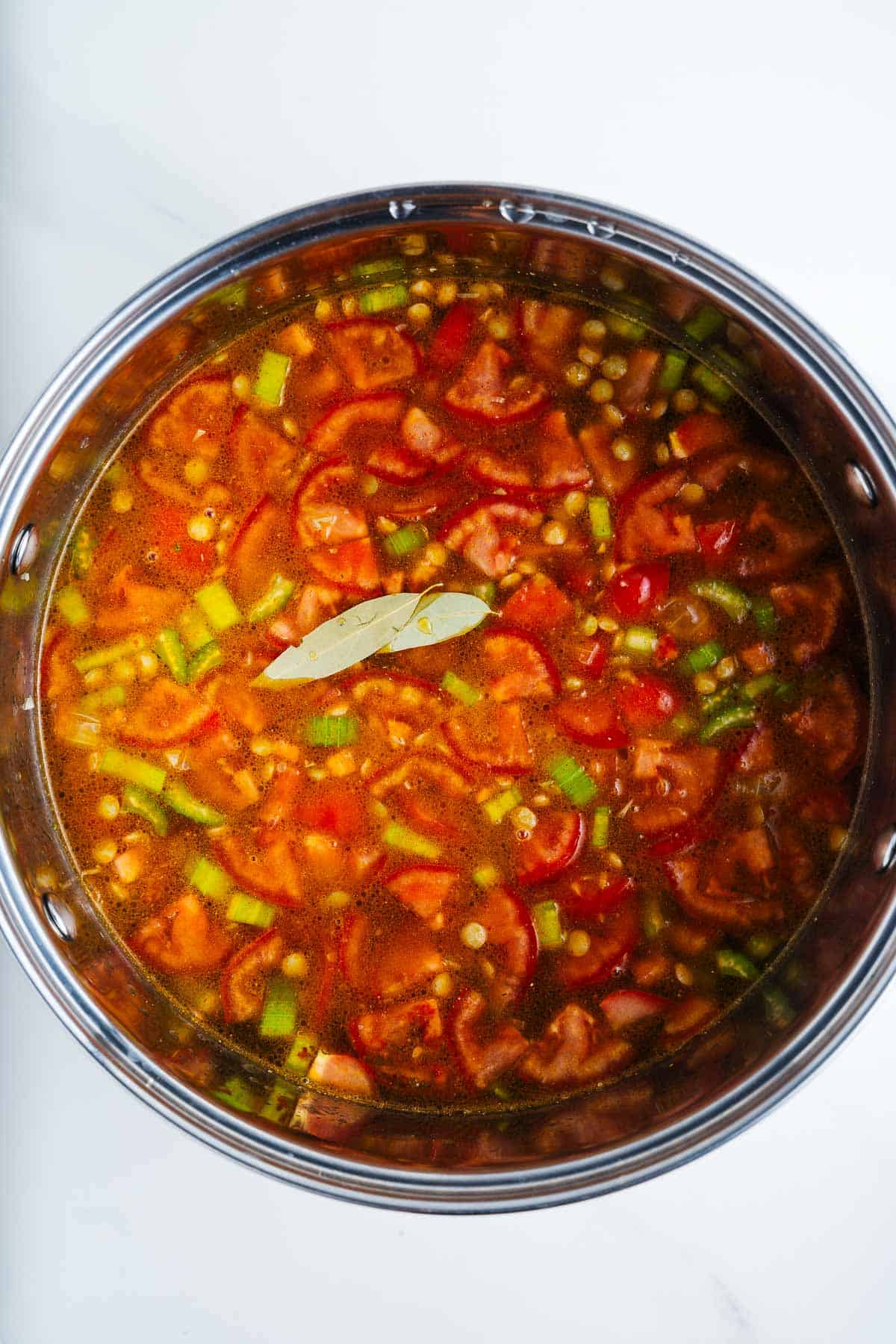 Simmering Sopa de Lentejas
