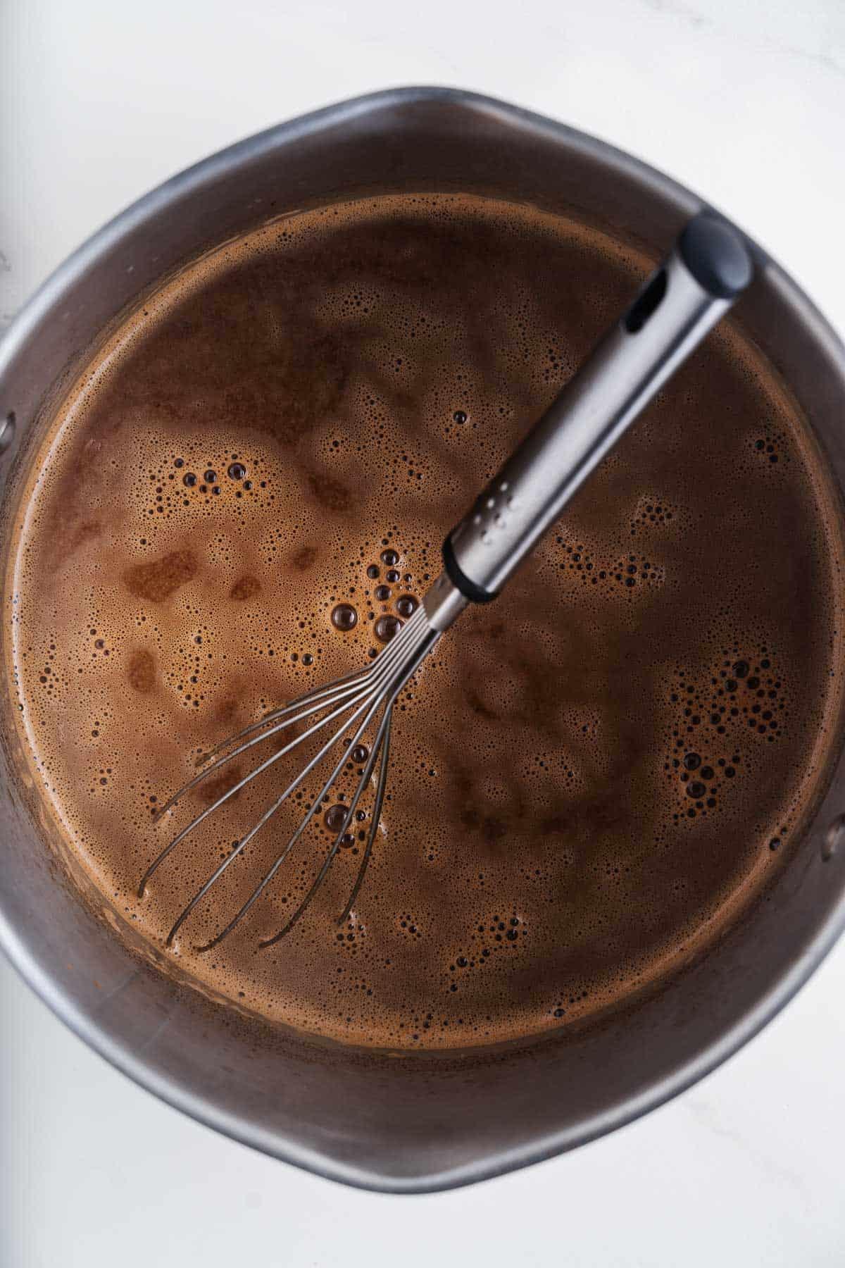 Champurrado in a Pot