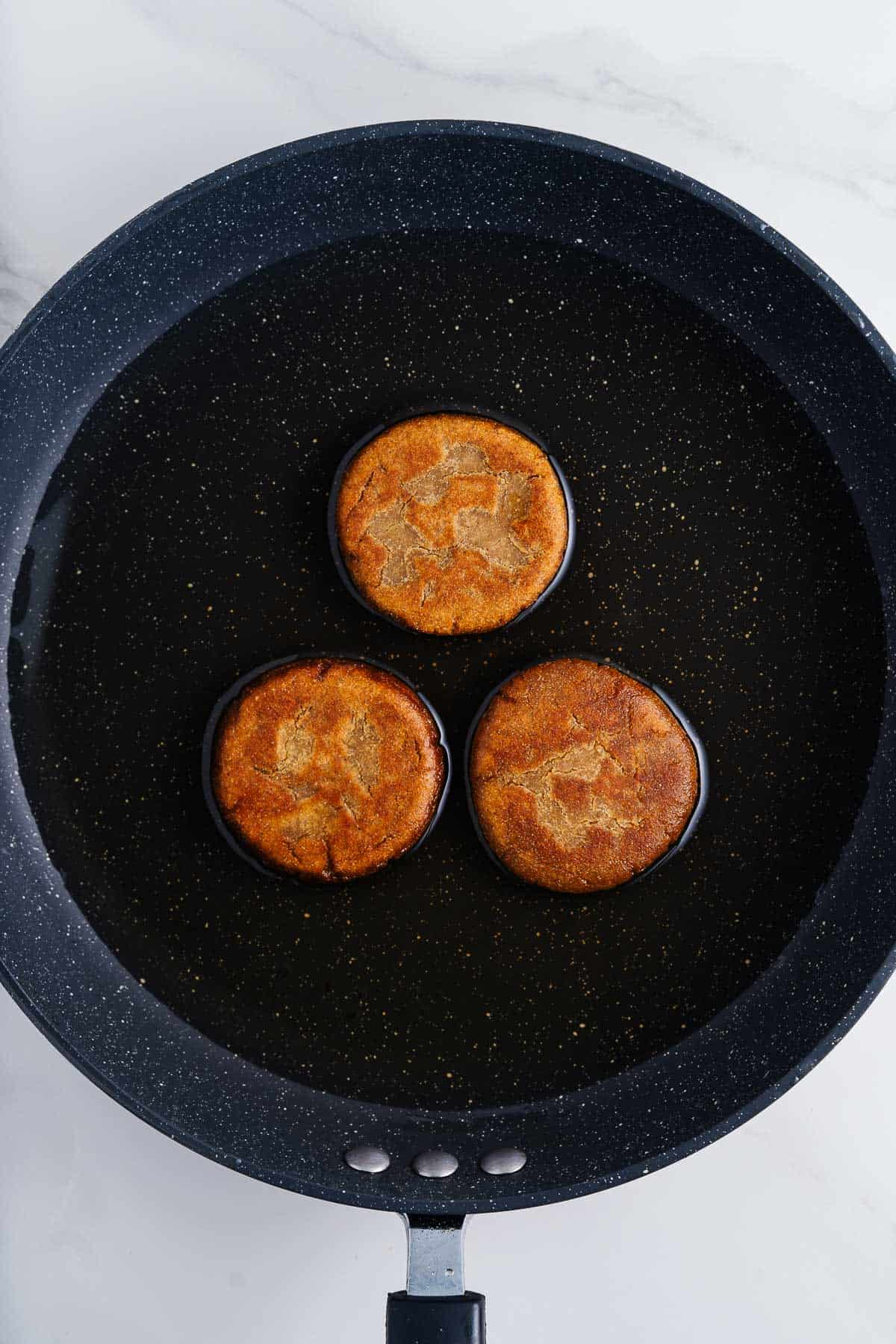 Gorditas de Piloncillo in a Pan of Oil