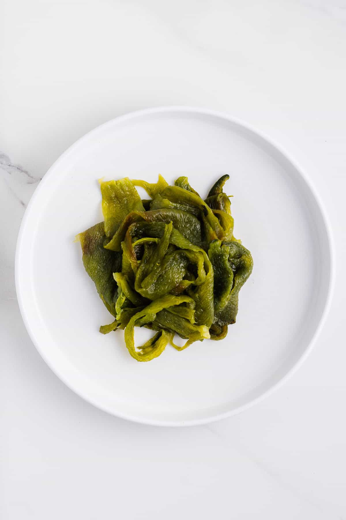 Roasted and Peeled Poblano Peppers
