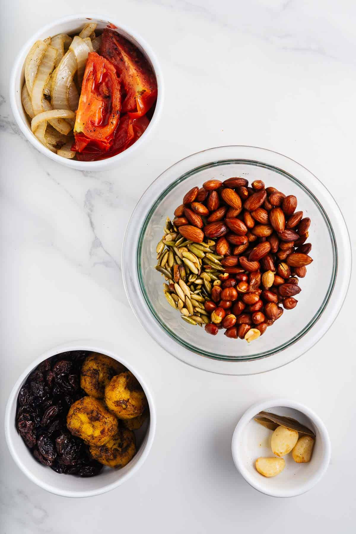 Fried Vegetables, Nuts, and Fruits