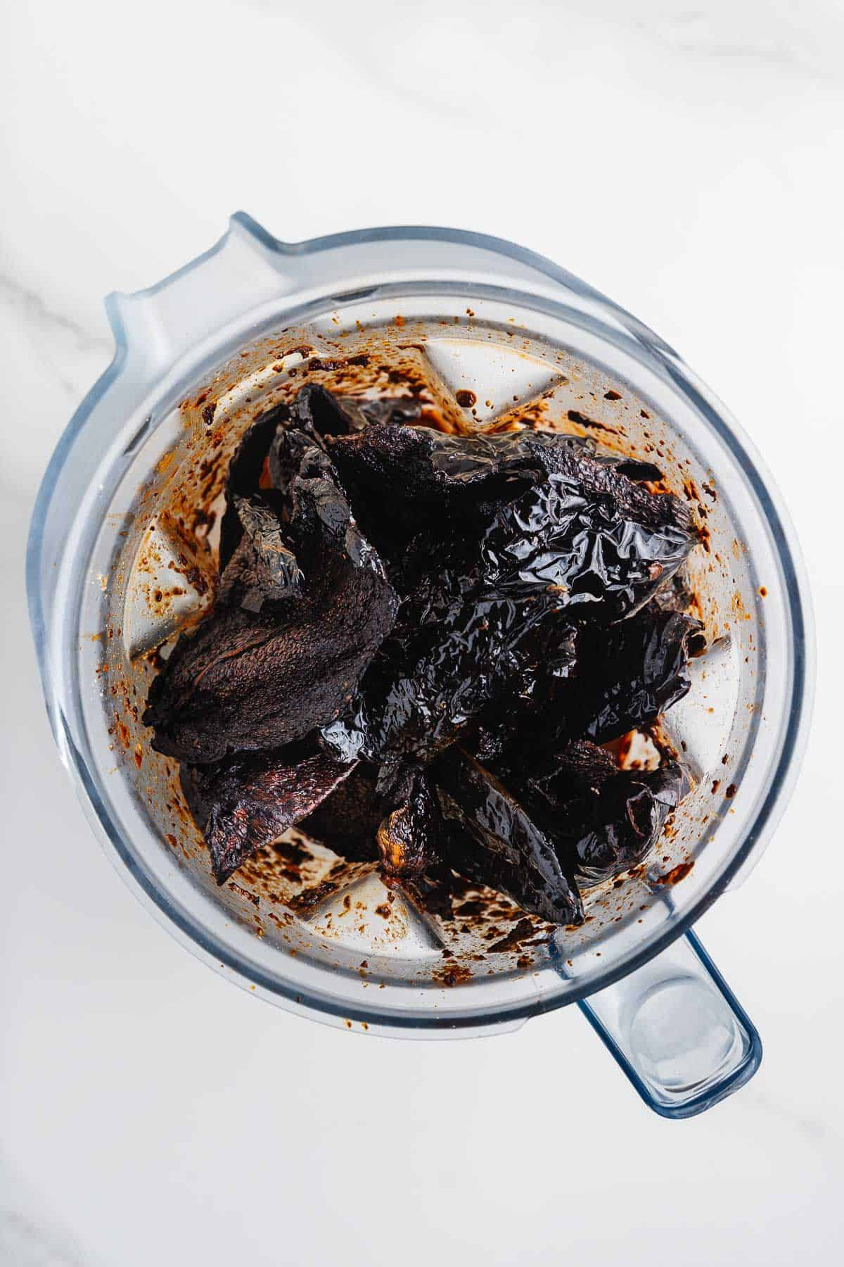 Dried Chiles in a Blender