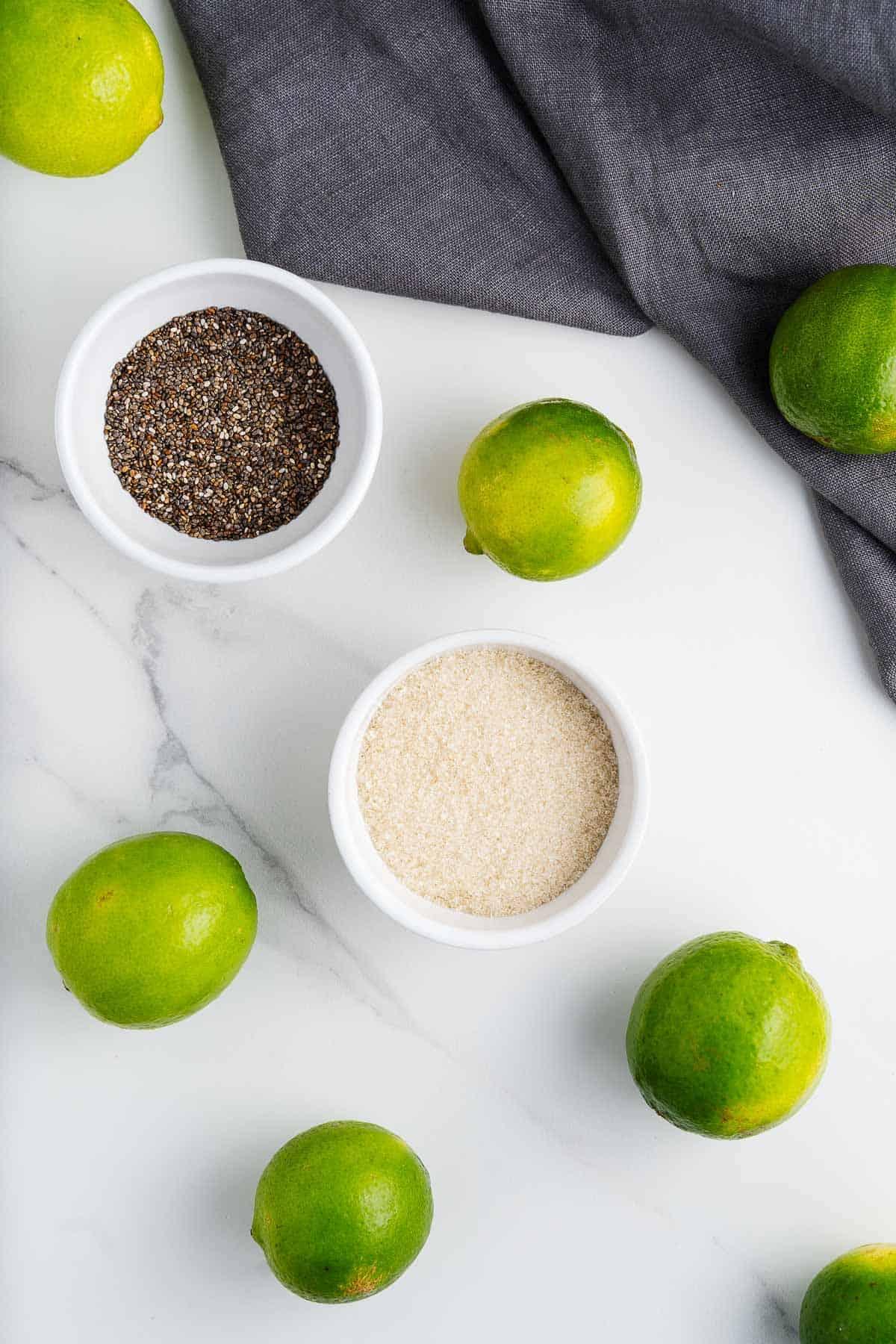 Chia Seeds, Limes, and Cane Sugar