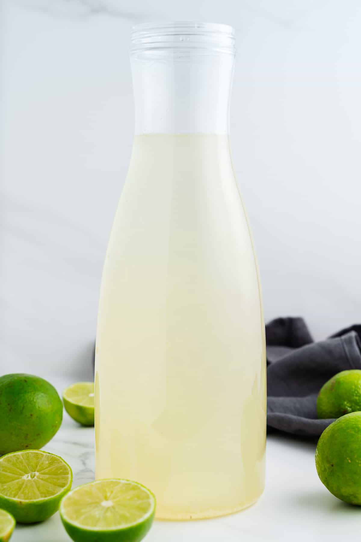 Lime Water in a Pitcher