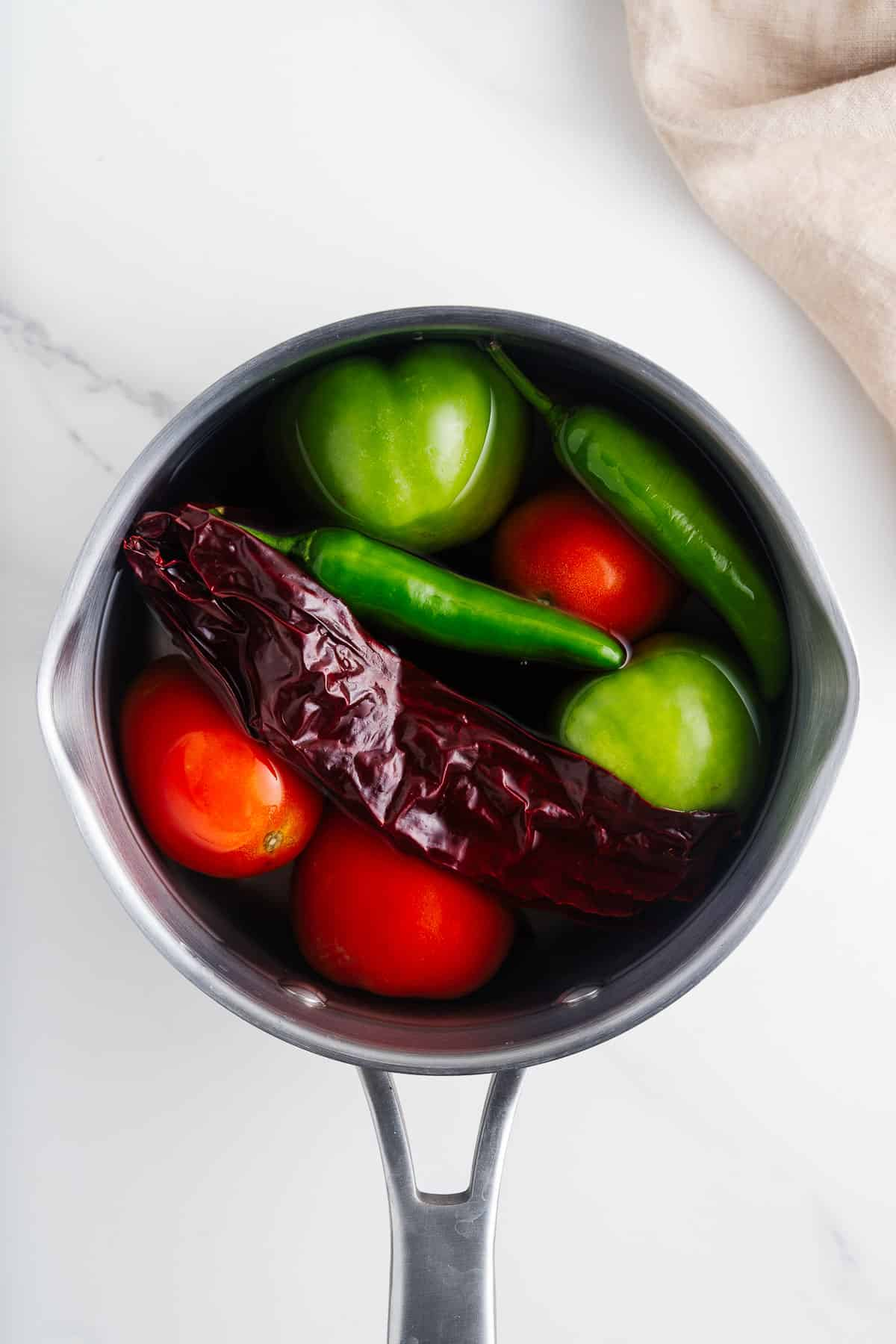 Vegetables and Dried Chiles in a Pot
