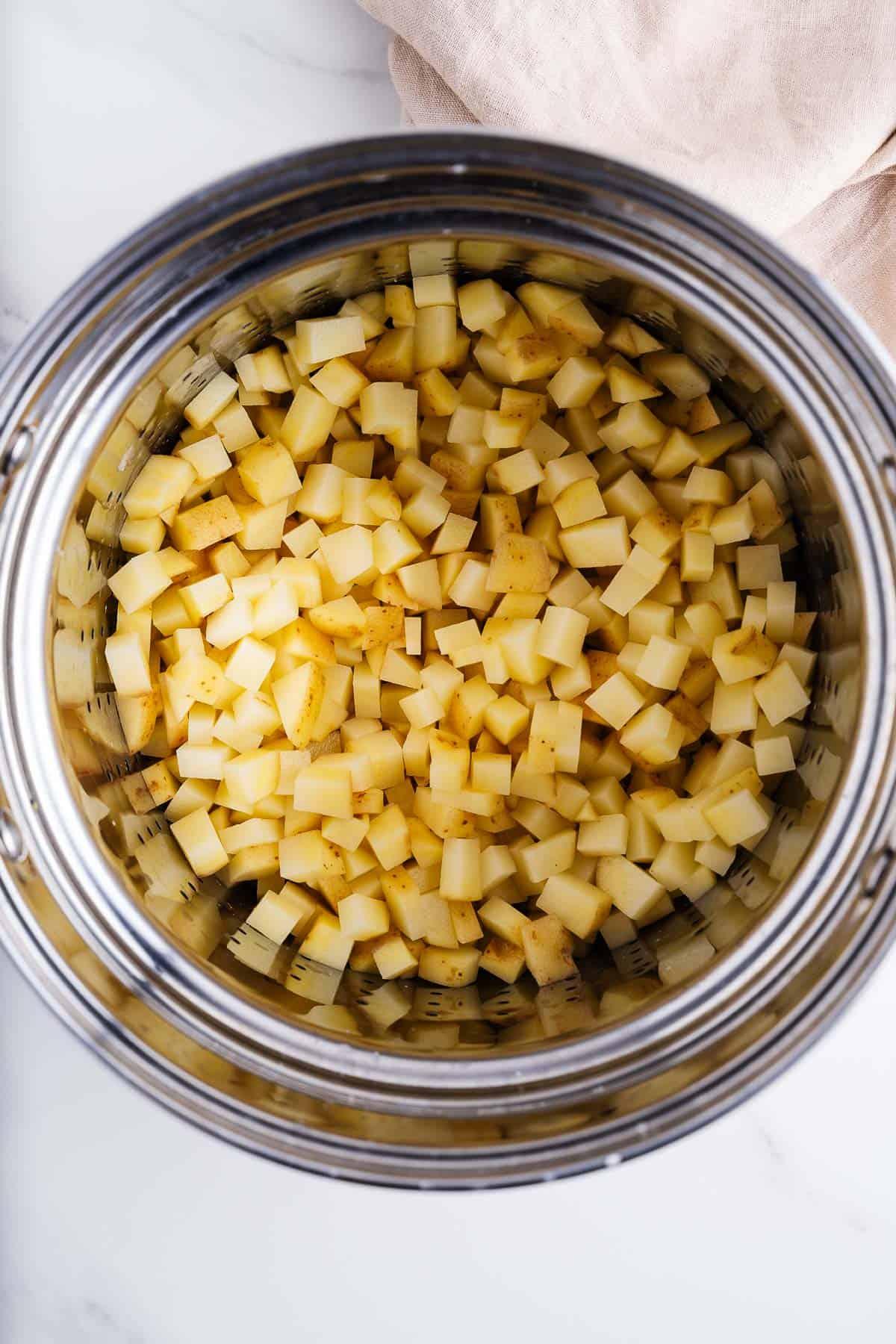 Potatoes in a Steamer
