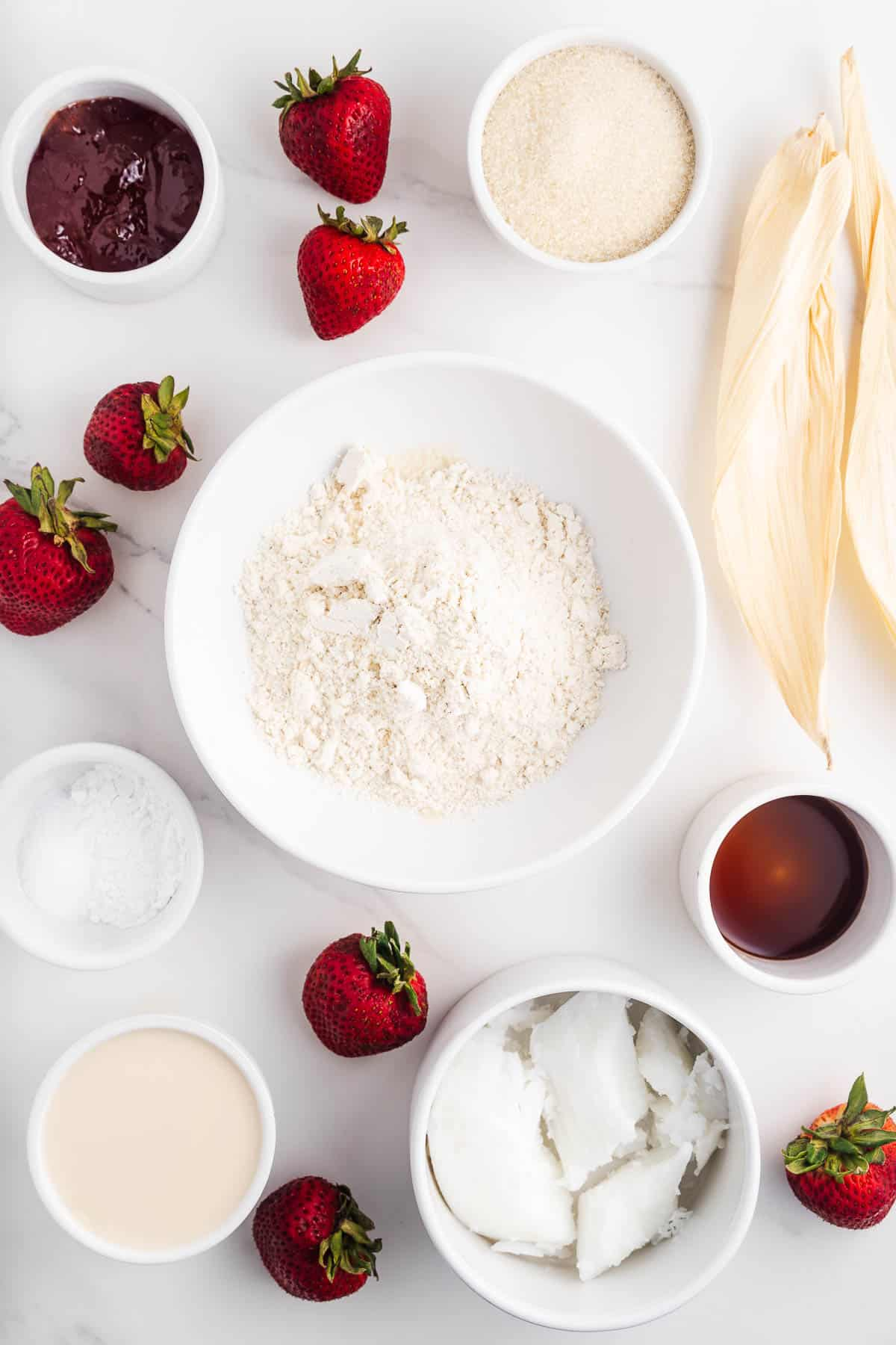 Ingredients for Strawberry Tamales