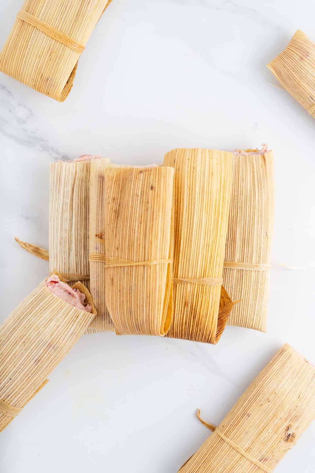Pile of Strawberry Tamales
