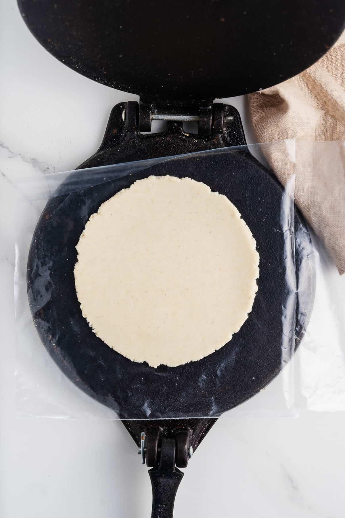 Tortilla in a Tortilla Press