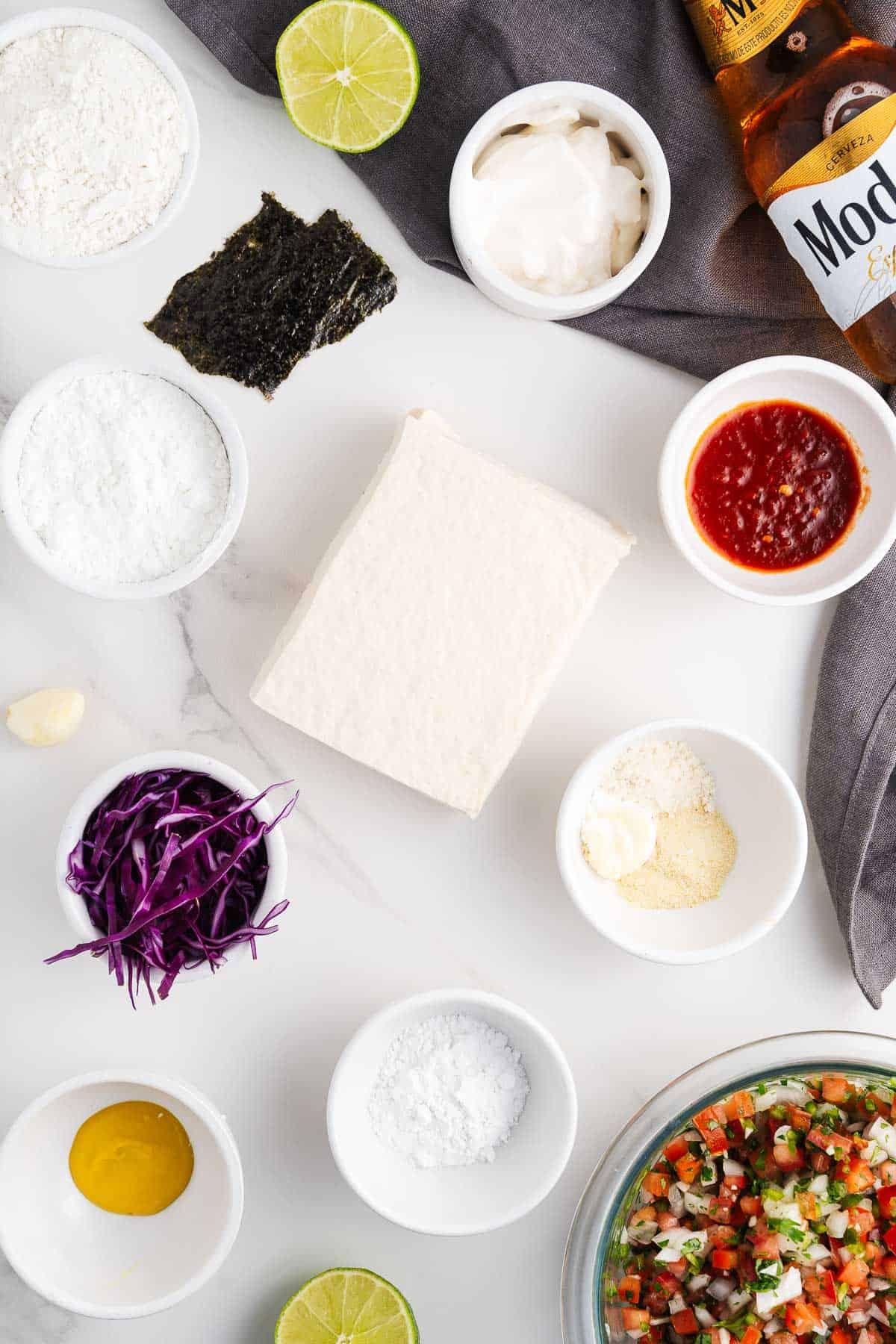 Vegan Fish Taco ingredients