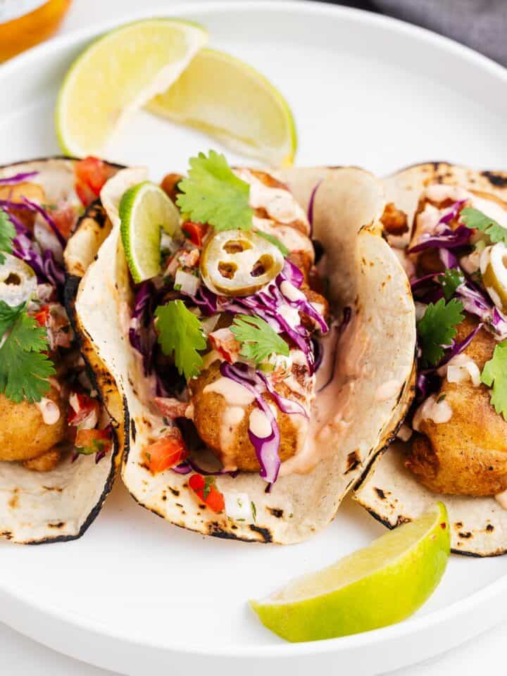 Vegan Ensenada Fish Tacos